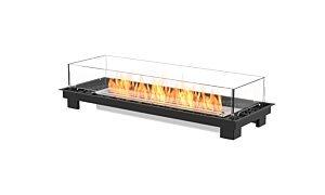 Linear 50 Fire Pit Kit - Studio Image by EcoSmart Fire