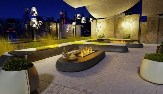 Commercial - Linear 50 Fire Pit Kit by EcoSmart Fire