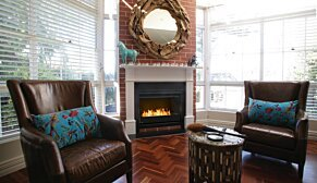 Grate 36 Fireplace Grate - In-Situ Image by EcoSmart Fire