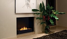 Private Residence Linear Fires Fireplace Grate Idea