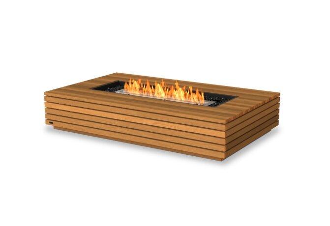 Wharf 65 Tables extérieure - Ethanol / Teak by EcoSmart Fire