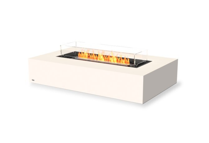 Wharf 65 Tables extérieure - Ethanol - Black / Bone / Optional Fire Screen by EcoSmart Fire
