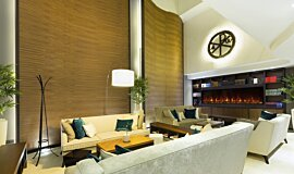 Lobby Hospitality Fireplaces Built-In Fire Idea