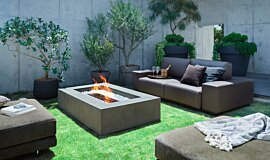 Private Residence Linear Fires 壁炉家具 Idea