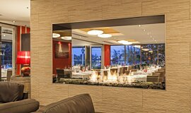 Black Salt Restaurant See-Through Fireplaces Brûleurs éthanol Idea