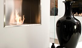 Fuorisalone Commercial Fireplaces Built-In Fire Idea