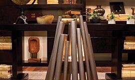 New American Home  Commercial Fireplaces Freestanding Fire Idea