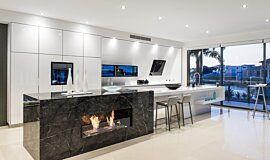 Enigma Interiors Residential Fireplaces Built-In Fire Idea
