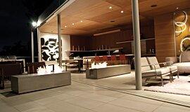 Private Residence Landscape Fireplaces Brûleurs éthanol Idea