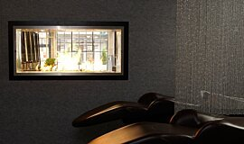 Raw Hair Salon See-Through Fireplaces Inserts de cheminée Idea