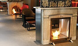 Equilibrium Bar See-Through Fireplaces Inserts de cheminée Idea