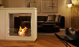 Merkmal Showroom See-Through Fireplaces Inserts de cheminée Idea