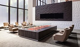 707 Wilshire Los Angeles Residential Fireplaces Built-In Fire Idea