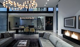 AB House Residential Fireplaces Built-In Fire Idea