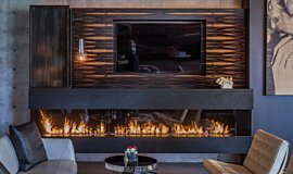 Hillside Residence Residential Fireplaces Built-In Fire Idea