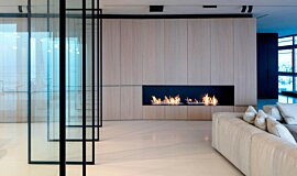 N Apartment Tel Aviv Residential Fireplaces Built-In Fire Idea