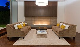 South Palm Canyon Residential Fireplaces Built-In Fire Idea