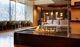 Midorinokaze Resort Kitayuzawa Hospitality Fireplaces Brûleurs éthanol Idea