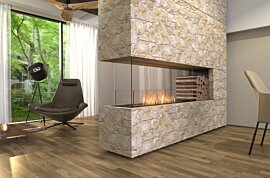 Péninsule (trois faces) Fireplace - In-Situ Image by EcoSmart Fire