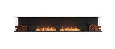 Flex 122BY.BX2 Baie (trois faces) Fireplace - Studio Image by EcoSmart Fire