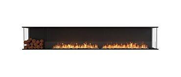 Flex 122BY.BXL Baie (trois faces) Fireplace - Studio Image by EcoSmart Fire