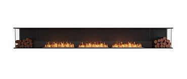 Flex 158BY.BX2 Baie (trois faces) Fireplace - Studio Image by EcoSmart Fire