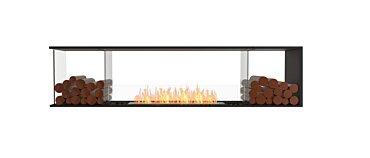 Flex 86PN.BX2 Péninsule (trois faces) Fireplace - Studio Image by EcoSmart Fire
