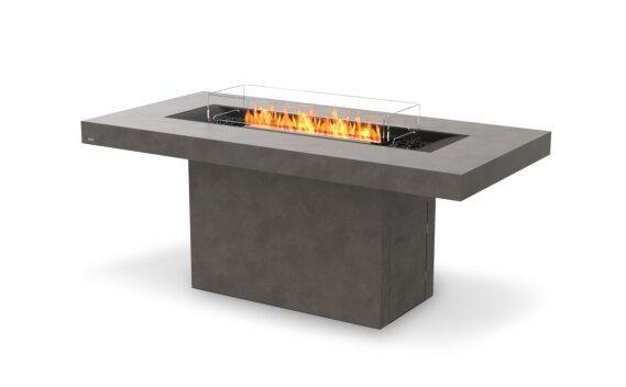 Gin 90 (Bar) Tables extérieure - Ethanol - Black / Natural / Optional Fire Screen by EcoSmart Fire