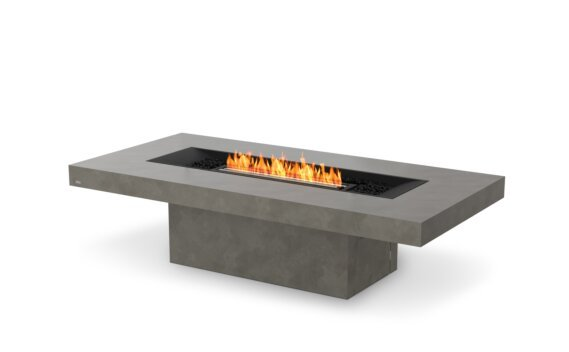 Gin 90 (Chat) Tables extérieure - Ethanol - Black / Natural by EcoSmart Fire
