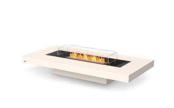 Gin 90 (Low) Tables extérieure - Ethanol - Black / Bone / Optional Fire Screen by EcoSmart Fire