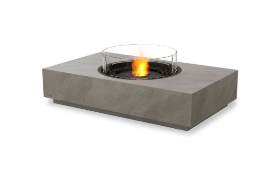Martini 50 Tables extérieure - Ethanol - Black / Natural / Optional Fire Screen by EcoSmart Fire