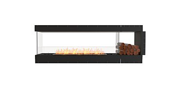 Péninsule (trois faces) Fireplace - by EcoSmart Fire