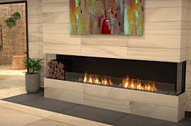 Baie (trois faces) Fireplace - In-Situ Image by EcoSmart Fire