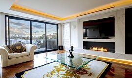 Private Residence Commercial Fireplaces Simple face Idea
